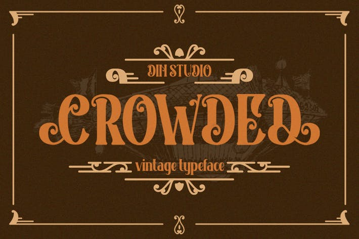 Thumbnail for Crowded Vintage Font