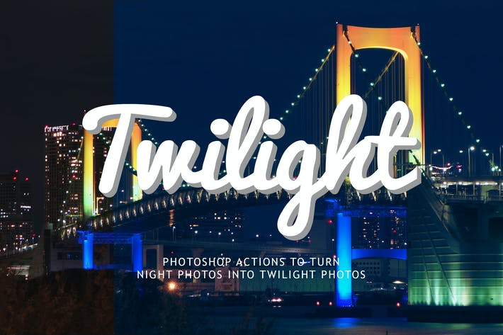 Thumbnail for Night to Twilight Photoshop Actions