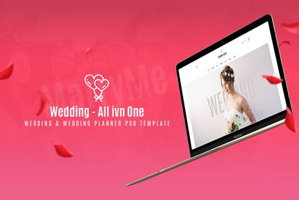 Wedding & Wedding Planner PSD Template