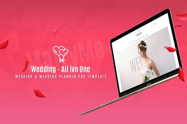 Thumbnail for Modèle de planification de mariage et de mariage PSD