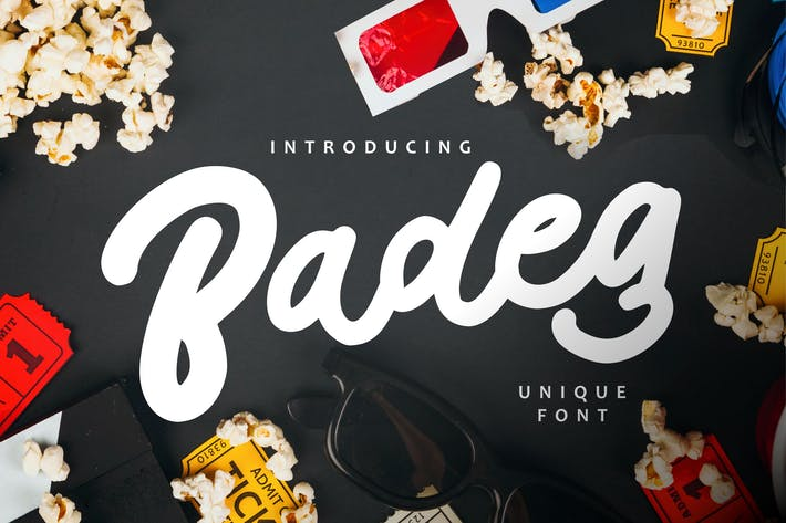 Thumbnail for Badeg - Unique Font