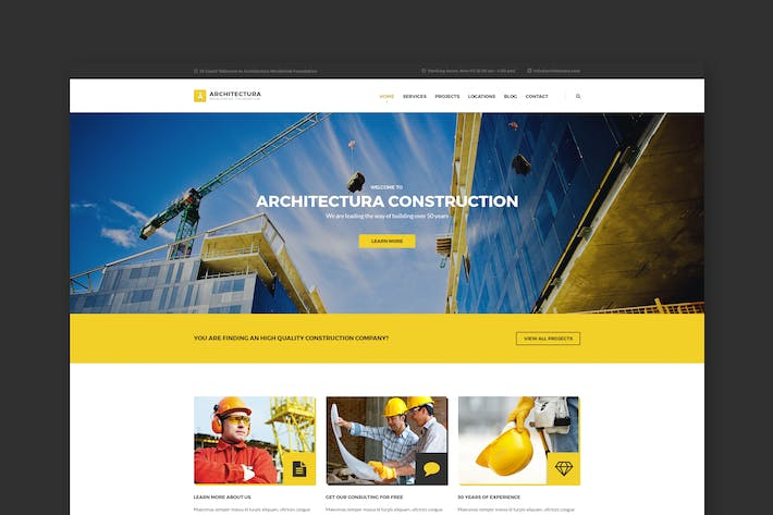 Thumbnail for Architectura - Construction & Building PSD Templat