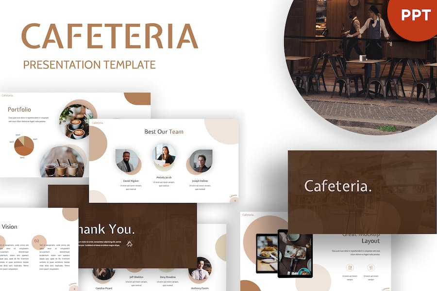 Cafetaria - Restaurant Powerpoint Template