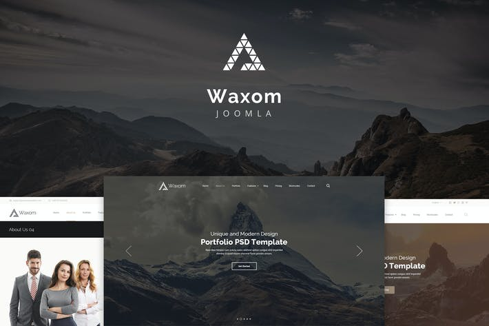 Thumbnail for Waxom — Clean and Universal Responsive Joomla