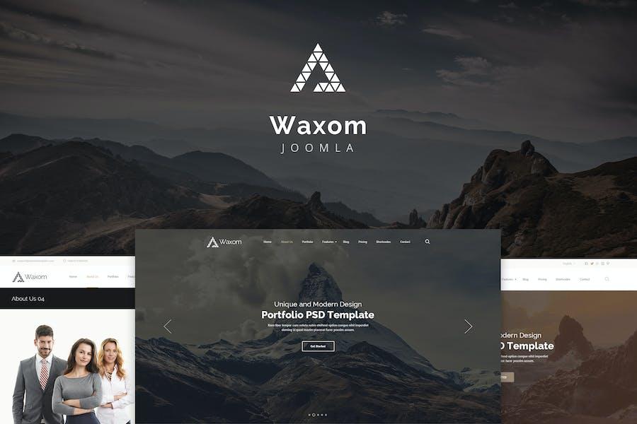 Waxom — Чистый и универсальный отзывчивый Joomla
