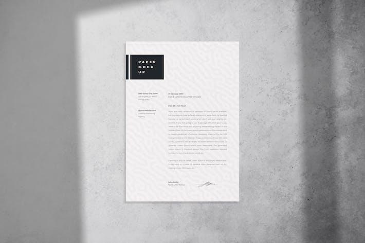 Flyer und Brief-Mockup-PSD-Vorlage