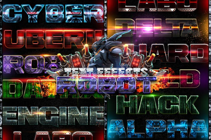 Thumbnail for Robot Photoshop Text Effects