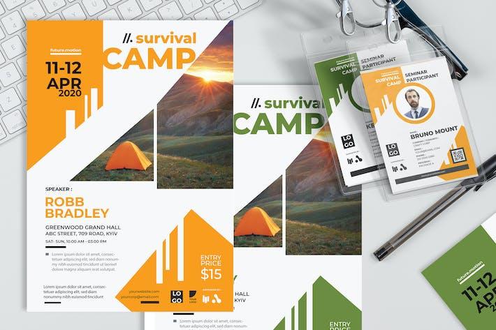 Thumbnail for Survival Camp - Plakat und Seminar