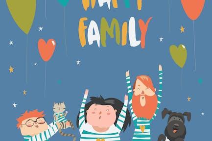 Alegre familia gestando con Alegre Sonrisa