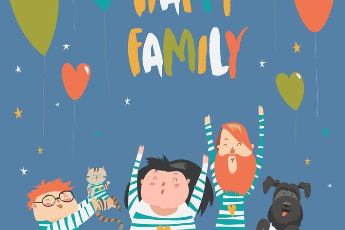Thumbnail for Happy family gesturing with cheerful smile