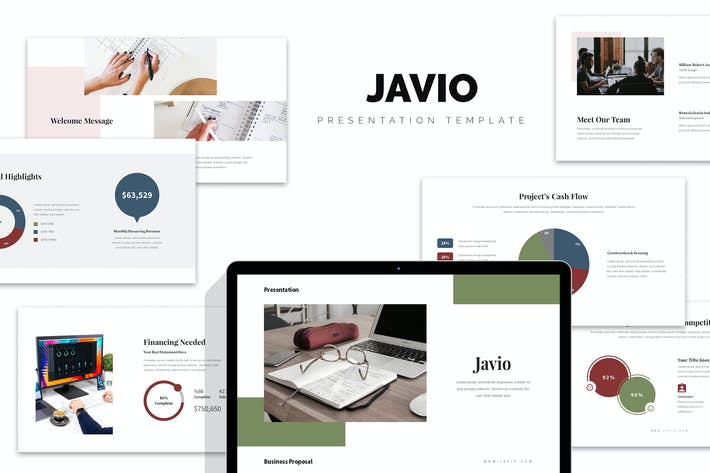 Thumbnail for Javio : Business Proposal Google Slides Template