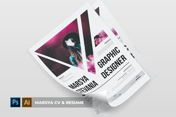 Thumbnail for Marsya | CV & Resume
