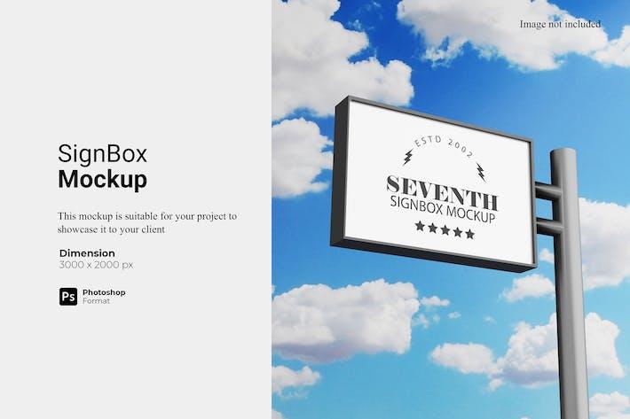 Sign Box Mockup
