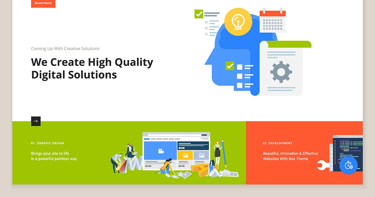 Download Creative website template design by PureSolution