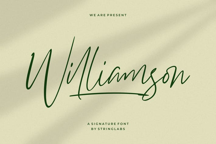 Thumbnail for Williamson - Luxury Signature Font