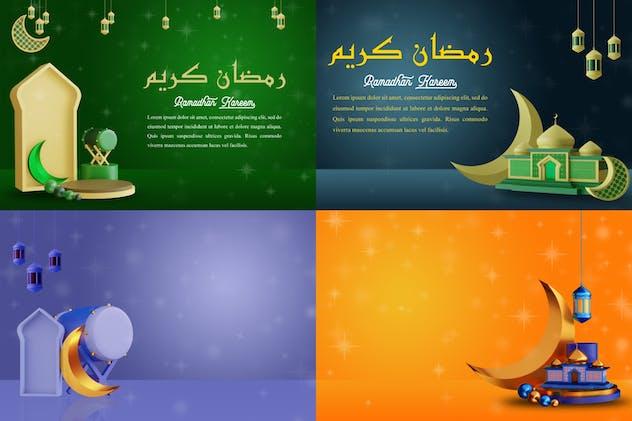 Ramadan Kareen Background Pack 02