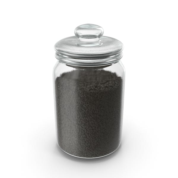 Jar with Black Sesame Seeds