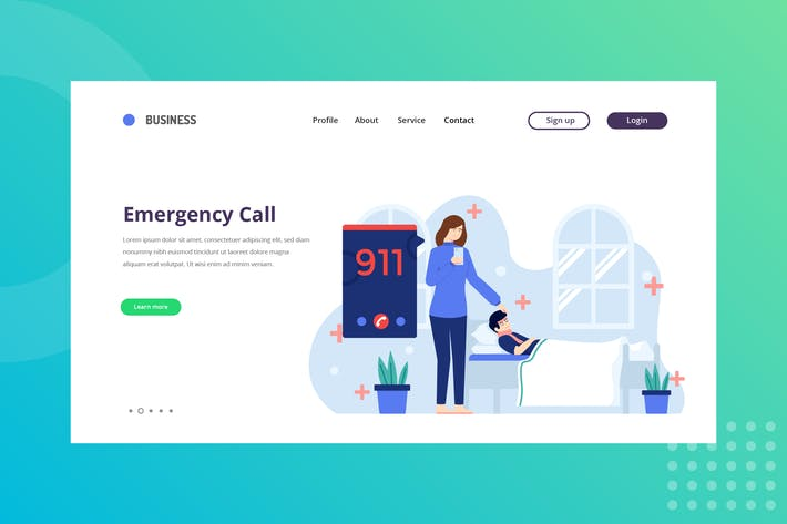 Emergency Call Landing Page