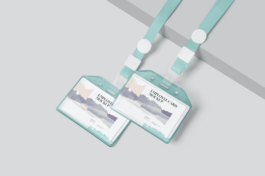 Horizontal Employee Card Mockups