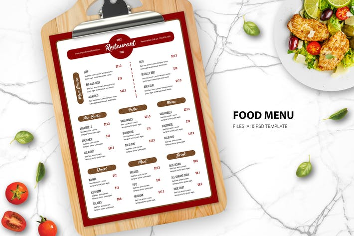 Thumbnail for Pasta Food Menu