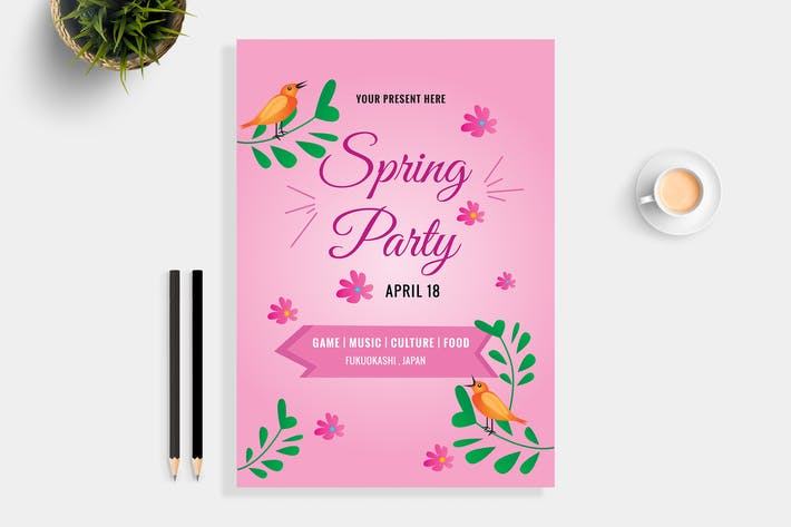 Thumbnail for Spring Party Flyer