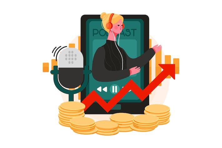 Podcast-Monetarisieren-Illu