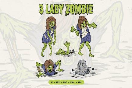 Ilustración Zombie Femenina