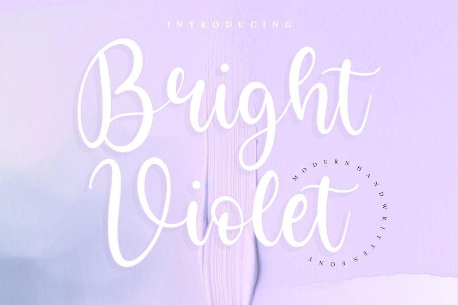 Bright Violet Script Font YH