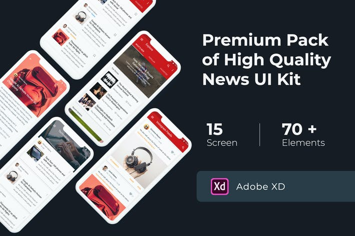 Thumbnail for News & Media UI KIT for XD