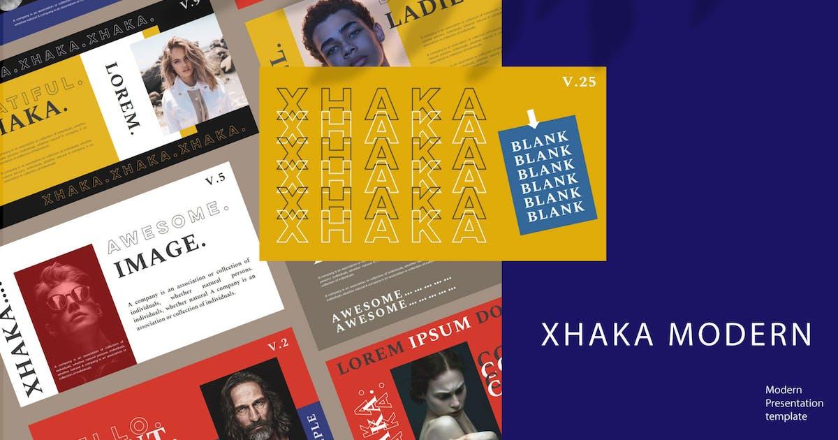 Download XHAKA - Keynote Template by axelartstudio
