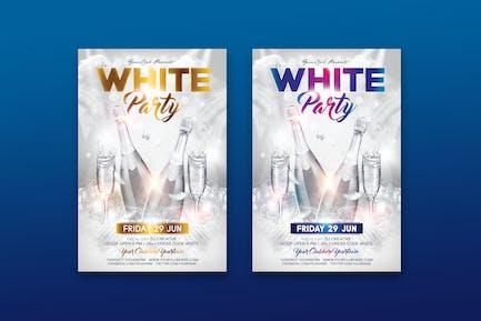 Weißer Party-Flyer