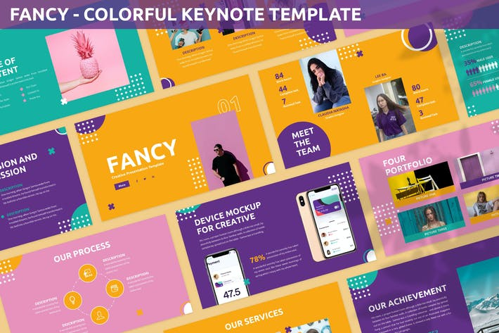 Thumbnail for Fancy - Colorful Keynote Template