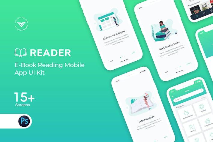 Thumbnail for E-Book Mobile App UI Kit