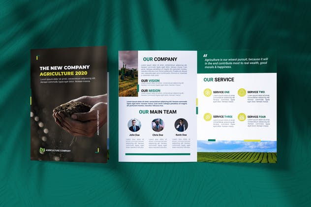 Agriculture Business Bifold Brochure