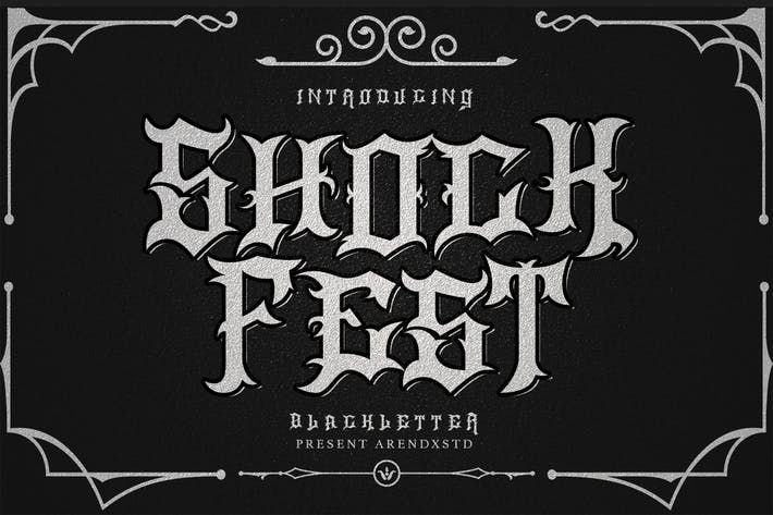 Thumbnail for ShockFest Blackletter Font