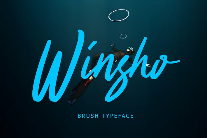 Thumbnail for Winsho Brush Typeface
