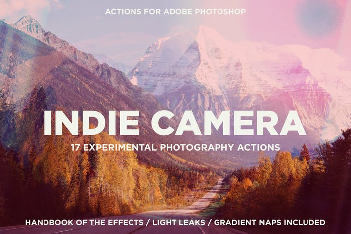 Thumbnail for Indie Camera Actions for Adobe Photoshop