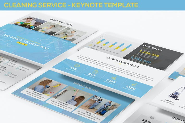 Thumbnail for Cleaning Service - Keynote Template