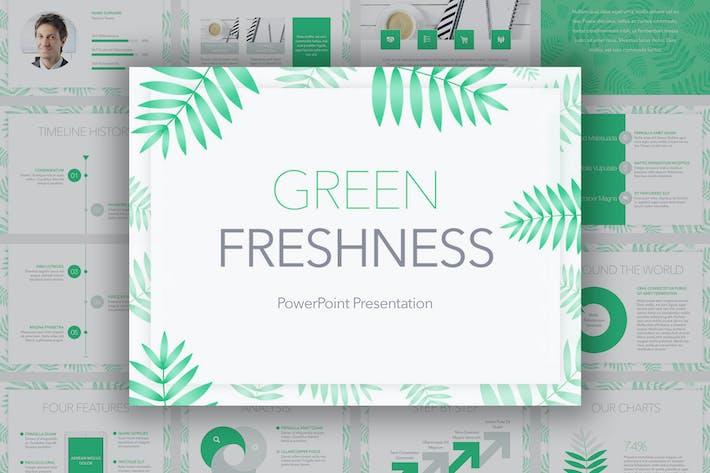 Thumbnail for Зеленый Свежесть PowerPoint Шаблон