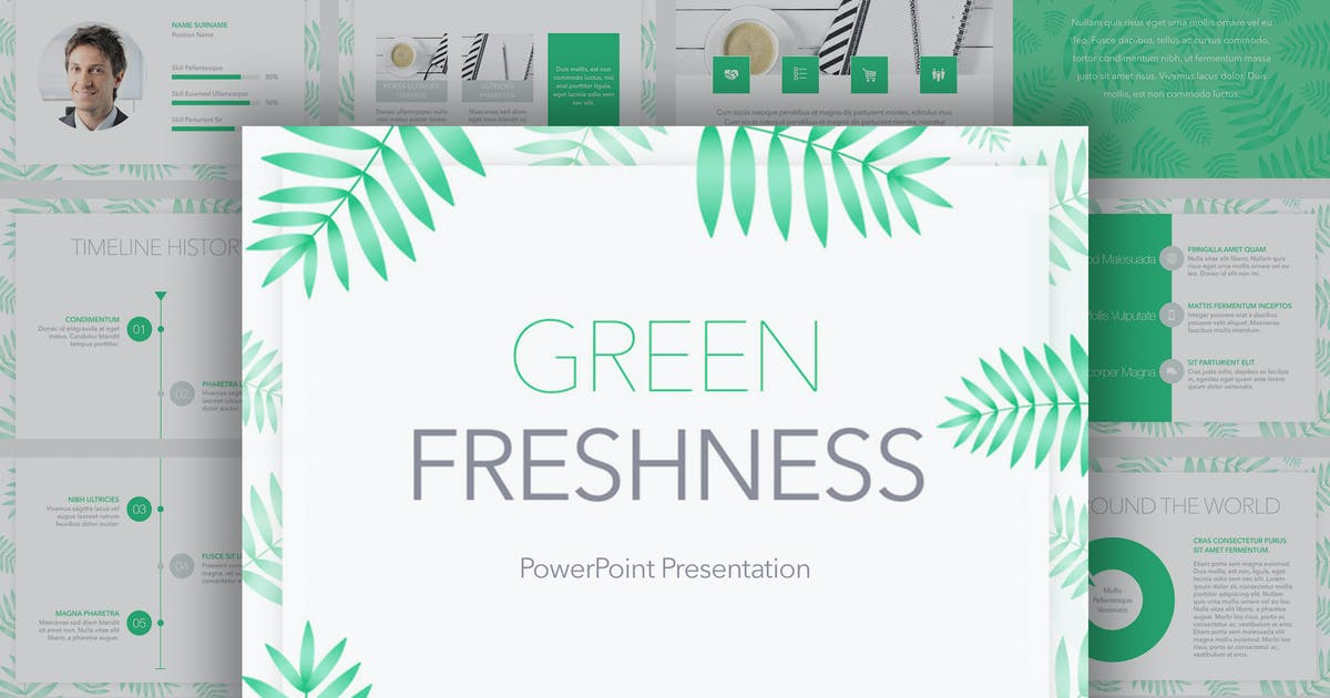 Download Green Freshness PowerPoint Template by Unknow