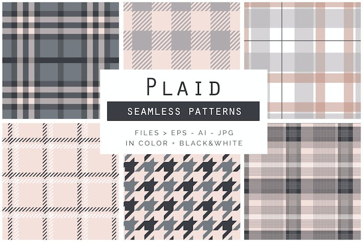 Thumbnail for Plaid Seamless Patterns