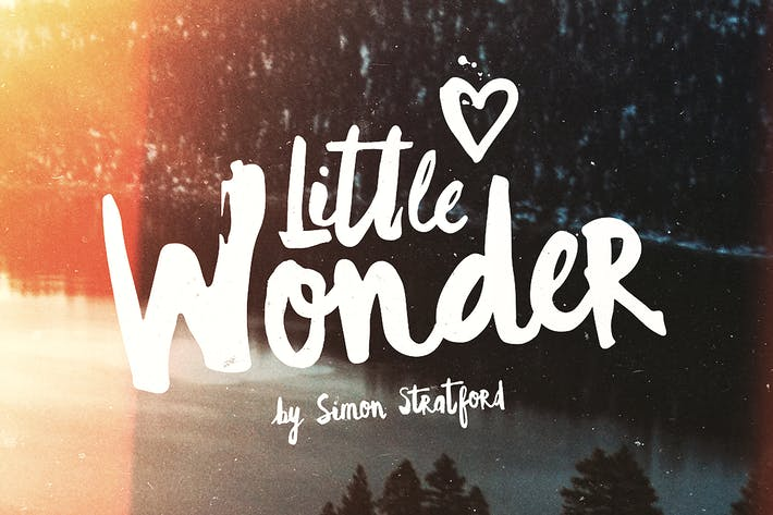 Thumbnail for Little Wonder font