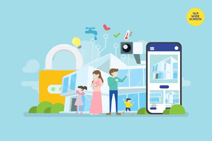Thumbnail for Smart Home Technology Vector Concept Illustration