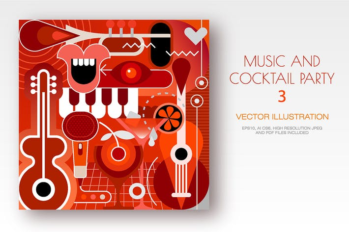 Thumbnail for Musical Instruments and Cocktails vector artwork
