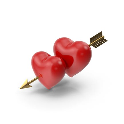 Two Hearts with Arrow