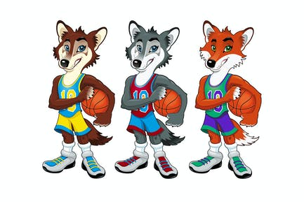 Basketball mascots