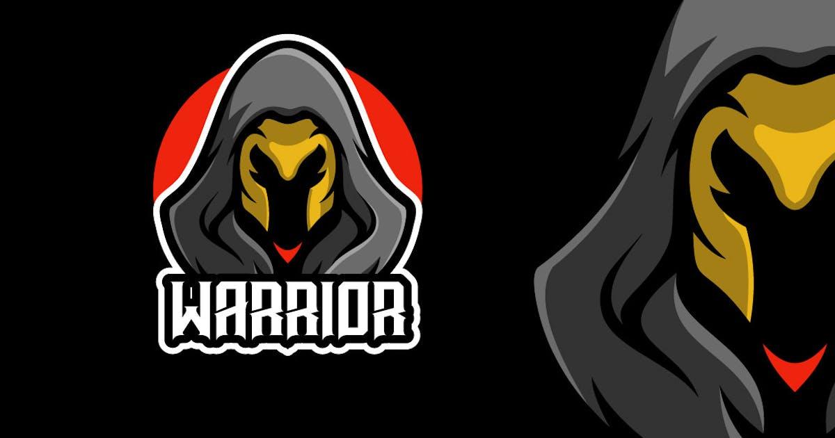 Download Black Ninja Warrior Mascot Character Logo Template by MightyFire_STD