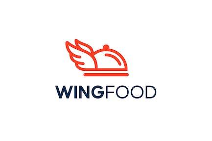Wings Food Logo