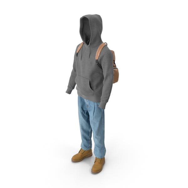 Men's Boots Jeans T-shirt Hoodie Hat Backpack