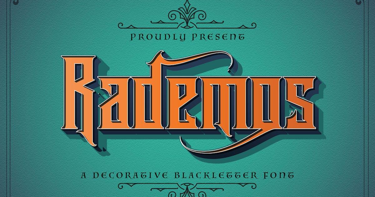 Download Rademos - Blackletter Font by StringLabs